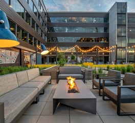 Landscape Forms The Hub Outdoor Seating Office Terrace