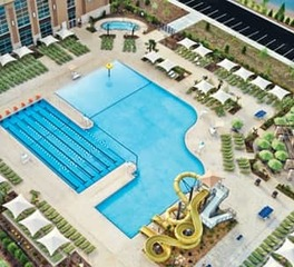 Life Time Construction Aerial view of pool
