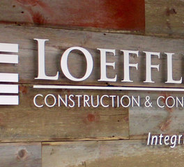 Loeffler Construction Loeffler Construction Office Sign