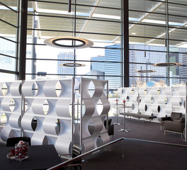Loftwall wave wall work lounge design