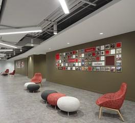 Meteor Lighting Tim Hortons Headquarters Toronto Cananda Common Area Waiting Area