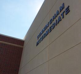 Mid States Concrete Cunningham Intermediate School exterior precast panels