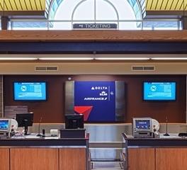 Miller Dunwiddie Bemidji Regional Airport Checkin Counter