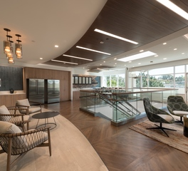 Navy island soundply Lino Acoustical Planks Perkins Coie Law Firm office commons