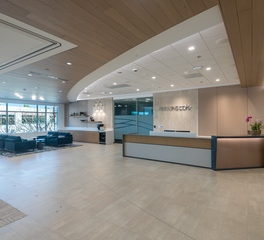 Navy island soundply Perkins Coie Law Firm Lino Acoustical Planks lobby design reception design