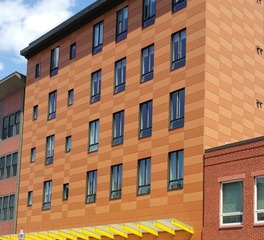 Neacera 380 broadway mixed use building exterior facade panels