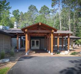 Nor-Son Construction Retreat Pavilion Exterior Entrance Design