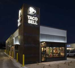 Nor-Son Construction Taco Bell Rochester Exterior Signage Design