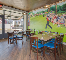 North Shore Inn SKP Design Benton Harbor Michigan Dining Area Feature Wall