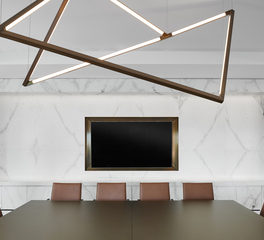 OCL Architectural Lighting Confidential Houston Office Conference Room Custom Pendant