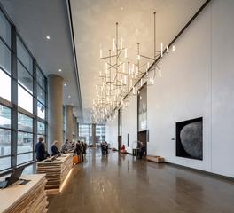 OCL Architectural Lighting Hospitality Design Hyatt Regency Seattle Custom Lobby Lighting