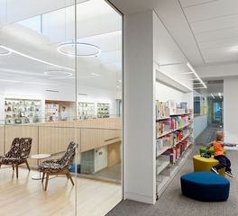 Oudens Ello Architecture Webster Public Library Common Area and Children's Reading Room