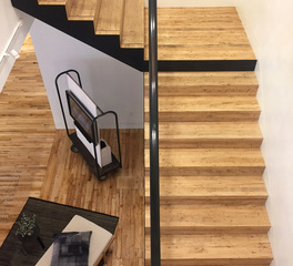 Pioneer Millworks Design Studio NY Interior Foundry Maple Stairs 1