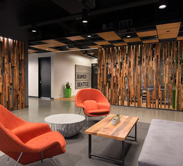 Pioneer Millworks Gaming Office Bellevue Interior Douglas Fir Slat Wall 1
