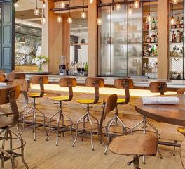 Pioneer Millworks Indigo Hotel Savannah Interior Mid Character Oak Paneling Bar