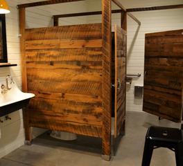 Pioneer Millworks Kindred Fare Interior Bathroom Stalls