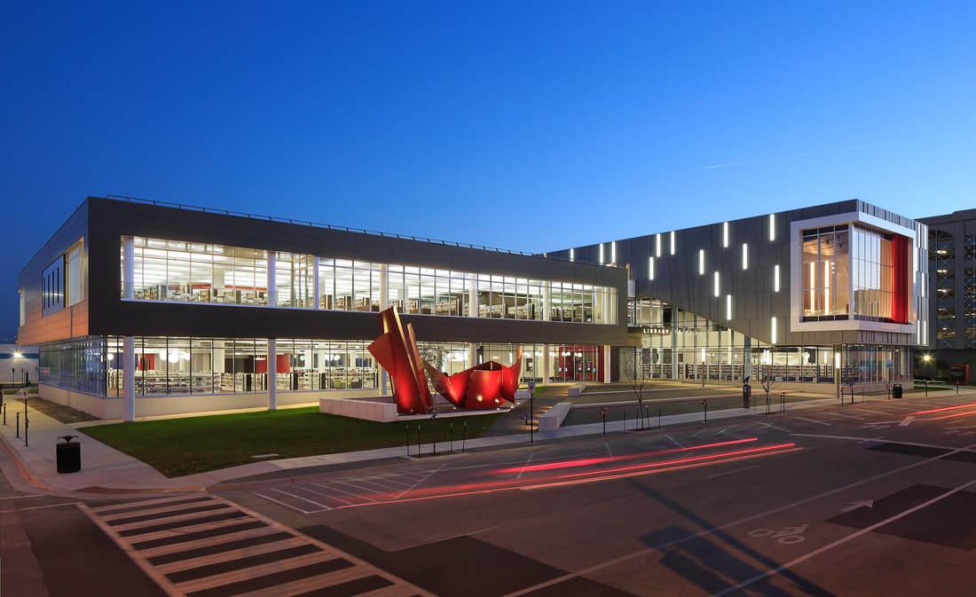 Public library exterior architectural design