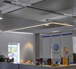 Pulse Products Inver Grove Heights Volkswagen Reception Area Lighting