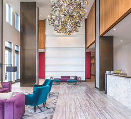 Pure and FreeForm 33 Park View Park Bronze Wall and Column interior lobby 1