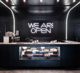 Pure and FreeForm The Diner Specter and Frozen Titanium interior millwork 2