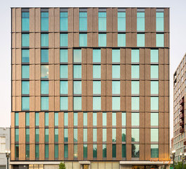Pure + FreeForm Canopy by Hilton Deco Bronze Exterior Metal Wall Panels