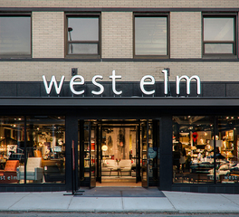 Pure + FreeForm Hot Rolled Ultra Gloss Exterior Cladding West Elm Retail Exterior Design - Entrance