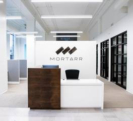 Red Door Construction Mortarr Headquarters Reception Desk