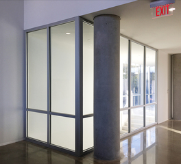 Safti first kent state university glass wall system