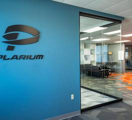 SKP Design Plarium Accent Wall Office Space Design