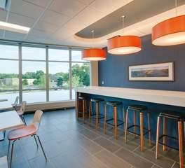 SKP Design Rx Optical Interior Office Breakroom