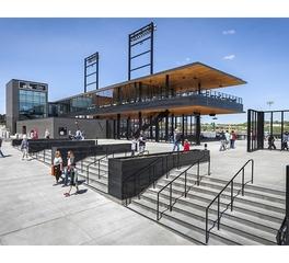 Snow kreilich architects chs field exterior