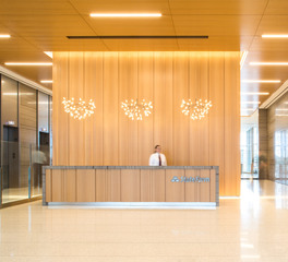 Soundplu by navy island alta ceiling panels latus wall panels lobby design