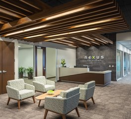 Soundply by navy island cella baffles Nexus office space design