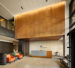 Soundply by navy island latus wall panels Otsuka reception area design