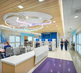 Soundply by navy island Lino plank heathcare design Nemours Children s Health System