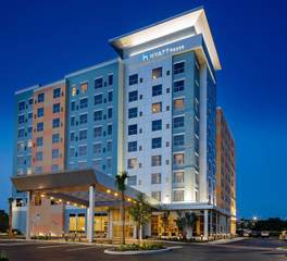 Stahl Construction Hospitality Design Hyatt House Orlando Exterior Night