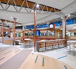 Structura Edmonton International Airport Interior Design Food Court Lighting