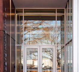 Structura Mercer Zimmerman Office Entrance Linear Lighting Overland Park Kansas