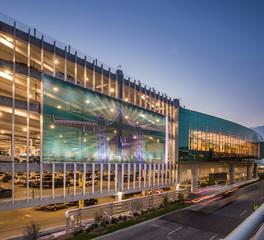 Structurflex San Antonio International Airport Consolidated Rental Car Facility San Antonio Texas Facade Screen