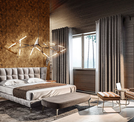 Surfacing Solution Stereo Scallop Bedroom design