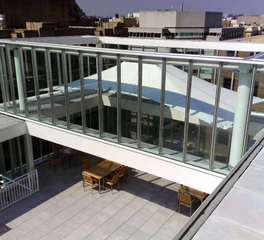 tension structures condo rooftop canopy skyway