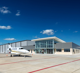 The Arkitex Studio Astin Aviation Hanger Exterior