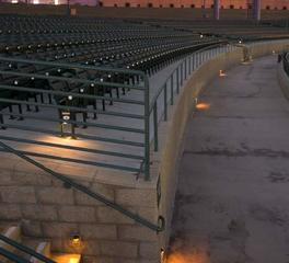 Tivoli Lighting Coors Amphitheatre outdoor stairs