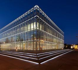 Tivoli lighting Jaqua Center exterior