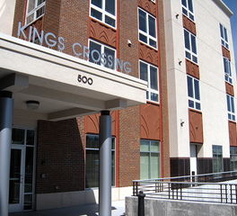 Trossen Wright Plutowski Architects Kings Crossing Senior Living Design Exterior and Pedestrian Entrance