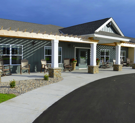 Trossen Wright Plutowski Architects The Meadows of Wadena Assisted Living Entry Pergola