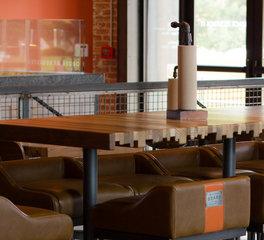 Urban Woods Company Butcher Board McKinney Texas Restaurant Dining Area