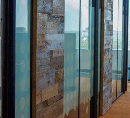 Urban Woods Company Cityline Open Office Corridor Wall Paneling