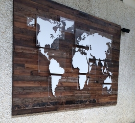 Urban Woods Company Reclaimed Industry Vintage Pine and Reclaimed Oak Wall Decor