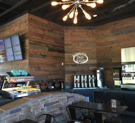 Urban Woods Company Schlotzsky's Reclaimed Wood Wall Paneling